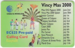 ST. VINCENT & GRENADINES A-088 Prepaid Cable & Wireless - Event, Vincy Mas - Used - San Vicente Y Las Granadinas