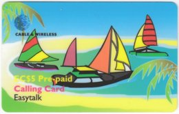 ST. VINCENT & GRENADINES A-089 Prepaid Cable & Wireless - Cartoon, Traffic, Boat - Used - San Vicente Y Las Granadinas