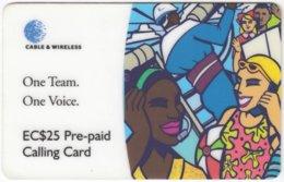 ST. VINCENT & GRENADINES A-091 Prepaid Cable & Wireless - Cartoon, Communication, Mobile Phone - Used - Saint-Vincent-et-les-Grenadines