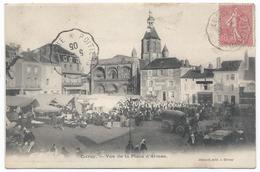 CIVRAY ( 86 - Vienne ) - Vue De La Place D'Armes ( Très Animée , Personnes , Eglise , Rue , Marché ) - TTB Etat - Civray