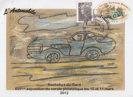Carte  FRANCE   XVIéme   Exposition   Philatélique    ROCHEFORT  DU  GARD   2012 - Philatelic Exhibitions