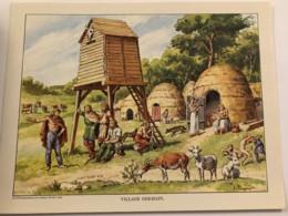 Grande Image Pédagogique - Village Germain - La Documentation En Couleurs - 1953 - Trade Cards