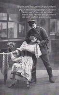AK Deutscher Soldat Mit Frau - Wenn Zwei Herzen Sich Gefunden - Patriotika - 1917 (45206) - Guerre 1914-18