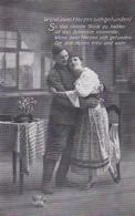AK Deutscher Soldat Mit Frau - Wenn Zwei Herzen Sich Gefunden - Patriotika - 1917 (45207) - Guerre 1914-18