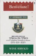 RARE TC Japon / 110-014 - ITALIAN FOOD COOKING - RISTORANTE * BENVENUTE * - ITALY Rel. Japan Phonecard - 260 - Werbung