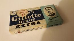 5 Lames De Rasoir Française GILLETTE En Distributeur - GILLETTE Safety Razor Blade In Dispenser - Rasierklingen
