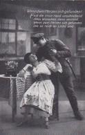 AK Deutscher Soldat Mit Frau - Wenn Zwei Herzen Sich Gefunden - Patriotika - 1917 (45210) - Guerre 1914-18