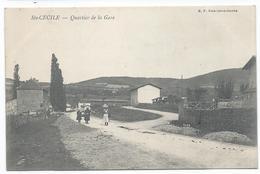 SAINTE CECILE ( 71 - Saône Et Loire ) - Quartier De La Gare ( Rue Animée , Personnes ) - TTB Etat - France