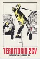 """A/5 - CARTOLINA PUBBLICITA' ADVERTISING - """"CITROEN 2CV"""" - TERRITORIO 2CV - RADUNO CITROEN - PORTOBUFFOLE (TREVISO) - Reclame"""