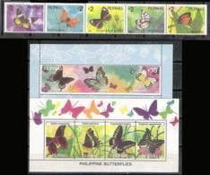 783  Butterflies - Papillons - Philippines 1965-69 + BF 53-54 - MNH - 5.75 (20) - Papillons