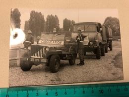 Photo Original   - Jeep Militaire - Krieg, Militär