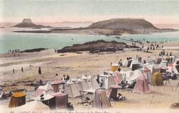 CARTE POSTALE ANCIENNE 35 SAINT MALO LA GREVE DE BON SECOURS ET LES DEUX BEYS EDITIONS /  LL N° 97 - Saint Malo