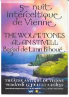 CPM - Carte Postale Publicitaire  - 5éme Nuit Interceltique De Vienne - Musique - 2005 - The Wolfe Tones - Alan Stivell - Publicité