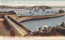 CARTE POSTALE ANCIENNE 35 SAINT MALO LE MOLE ET LES REMPARTS EDITIONS /  LL N° 80 - Saint Malo