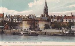CARTE POSTALE ANCIENNE 35 SAINT MALO LES QUAIS ET LA GRANDE PORTE EDITIONS /  LL N° 27 - Saint Malo