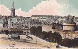 CARTE POSTALE ANCIENNE 35 SAINT MALO VUE DE LA PORTE SAINT VINCENT EDITIONS /  LL N° 134 - Saint Malo