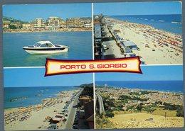 °°° Cartolina - Porto S. Giorgio Vedute Viaggiata °°° - Ascoli Piceno