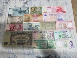 13 Banknotes UNC Price OFFERT - Bankbiljetten