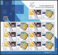 South Korea KPCC2617-8 Opening Of 2018 PyeongChang Winter Olympics, Torch, Medal, Jeux Olympiques, Full Sheet - Inverno 2018 : Pyeongchang