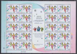 South Korea KPCC2298 Pyeongchang Special Olympics World Winter Games, Snow Shoeing, Jeux Olympiques Spéciaux, Full Sheet - Inverno 2018 : Pyeongchang