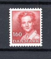 DANMARK :  PO. 1,60 Kr.  Regina Margrethe II  -  1 Val.  MNH**  14.01.1982 - Nuovi