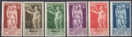 LIBIA - 1938 - Serie Completa Nuova MH: Yvert 68/73, 6 Valori. - Libyen