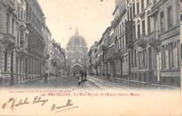 BRUXELLES - La Rue Royale Et L'Eglise Sainte-Marie - Avenues, Boulevards