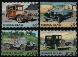 Norfolk-Insel 1995 - Mi-Nr. 577-580 ** - MNH - Autos / Cars - Isola Norfolk