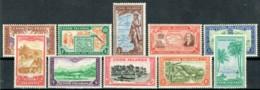 Cookinseln 1949 Freimarken Michel 78 - 87 MNH - Islas Cook