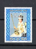 Isola Di MAN :  25° Incoronazione Regina Elisabetta II  -  1 Val.  MNH**  Del   24.05.1978 - Isola Di Man