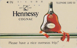 Télécarte Japon / 110-016 - ALCOOL FRANCE - COGNAC HENNESSY - ALCOHOL Japan Phonecard - ALKOHOL TK - 1009 - Werbung