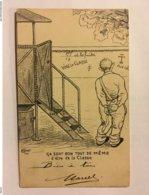 A065- CARTE SUR LA CONSCRIPTION. « VIVE LA CLASSE ». CARTE TRES ANCIENE A DOS NON PARTAGE. - War 1914-18