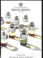 F-Large Carte à Rabat MOLTON BROWN - The Eau De Toilette Collective  - Perfume Card - USA - Cartes Parfumées