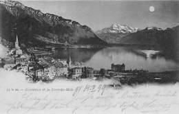 Switzerland Montreux Et La Dent-du-Midi, Moonlight Mondlicht 1899 AK - Switzerland