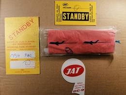 Old Lot - Boarding Pass + Stciker Label + Unused Eating Set Jugoslovenski Aerotransport JAT Airlines Airways Cca 1960's - World