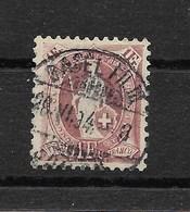 SUISSE 1882/1904  YT 78  Oblitéré (1 F. Lie De Vin )  Oblitération 1894  [ Lot A ] - Oblitérés