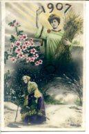 Passage D'année 1906 à 1907 - Jolie Qualité Photo - Neujahr