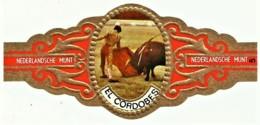 El Cordobes - N.º 5 - NEDERLANDSCHE MUNT - CORRIDA - TOURADA - Cigar Bands - Cintas De Charuto - Bagues De Cigares