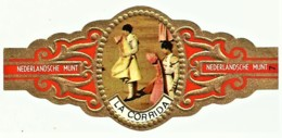 LA CORRIDA - N.º 7 - NEDERLANDSCHE MUNT - TOURADA - Cigar Bands - Cintas De Charuto - Bagues De Cigares