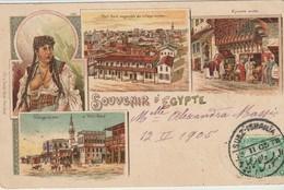 CPA - SOUVENIR - D'EGYPTE - PORT SAID ENSEMBLE DU VILLAGE ARABE - ÉPICERIE ARABE - FIX & DAVID - PRECURSEUR - - Port-Saïd