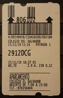 TICKET - PARKING - APARCAMIENTO COCHES - CARS. - Tickets - Entradas