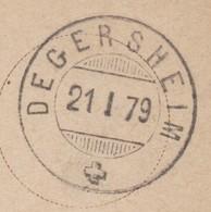 SG     DEGERSHEIM - ST. GALLEN  /  SUPER STEMPEL - 1862-1881 Sitzende Helvetia (gezähnt)