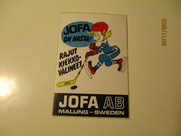 OLD STICKER ICE HOCKEY  JOFA AB MALUNG SWEDEN , 0 - Uniformes Recordatorios & Misc