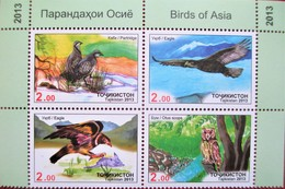 Tajikistan  2013   Fauna  Birds      4v   MNH - Vögel