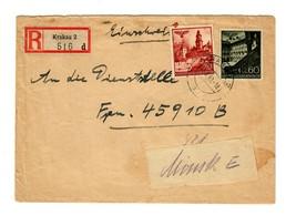GG Feldpost 1942: Einschreiben: 1. Brief Auf Briefbund, FP-Amtsnummer, Minsk  - Ocupación 1938 – 45