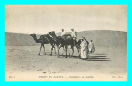 A773 / 235   Desert Du SAHARA  Chameliers En Marche ( Chameau ) - Sahara Occidental