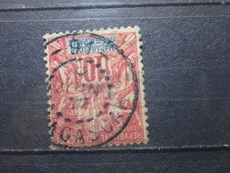 """VEND BEAU TIMBRE DE MADAGASCAR N° 43 , OBLITERATION """" 91 """" !!! - Used Stamps"""