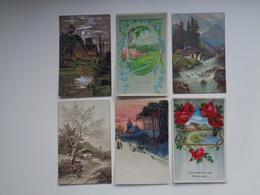 Beau Lot De 60 Cartes Postales De Fantaisie Paysages Paysage Mooi Lot Van 60 Postkaarten Fantasie Landschappen Landschap - Postkaarten