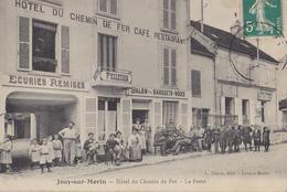 JOUY SUR MORIN   Hôtel Du Chemin De Fer   La Poste - Autres Communes