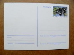 Postal Stationery Post Card Karte Austria Animals Insects Butterfly Papillon - Postwaardestukken
